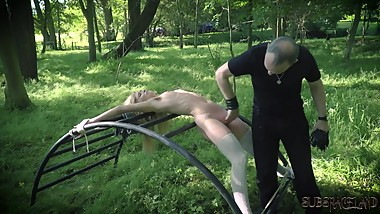 Teen gets hardcore fucked in kinky bondage sex and gives best blowjob