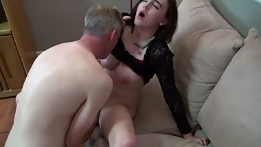 Uncle fuck his big tits niece