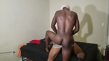Black Jocks Fuck Hard Next To Parents Room Part 1