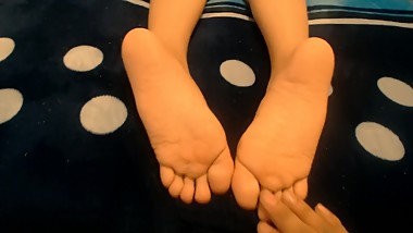 Trying to say her ABC's while i tickle her feet (LATINA TEEN FEET) PART 2