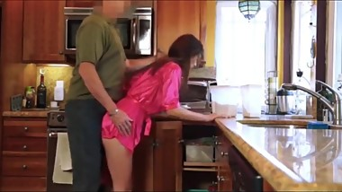 Daddy trying to seduce and fuck his naughty stepdaughter