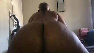 Fat booty BBW Bouncing on my dick POV