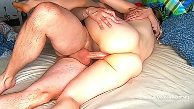 Fucked Her While She was in bed and Pumped it All in! - Amateur Couple