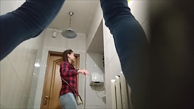 Russian girls peeing in WC compilation 2