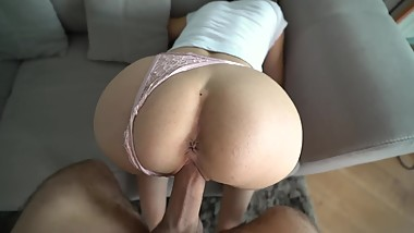 After Party With Young Nasty Neighboor - She Ride My Huge Cock So Fast!