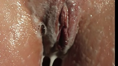 Piss in the Park Still Collection - close-ups of Pussy, pee hole clit