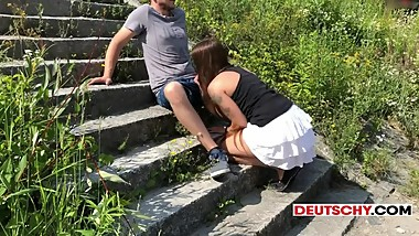 Deutscher Public Sex in der Donau