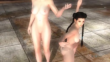 Dead or Alive 5 Nude - Sarah Bryant & Pai Chan