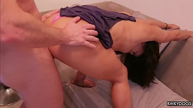 Teen with big ass fucking after workout - Amateur Couple