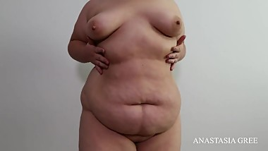 SSBBW big belly teasing