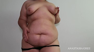 SSBBW teasing and pussy touch