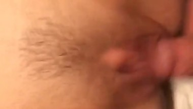 Squirting on his dick for the first time