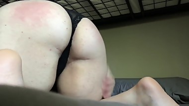 Spanking myself for the first time