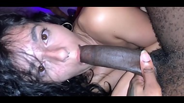 Colombian sucks and fucks bbc while best friend home