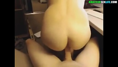 natural tits babe takes care of my cock