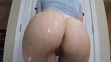 Oiled Up Booty Tease