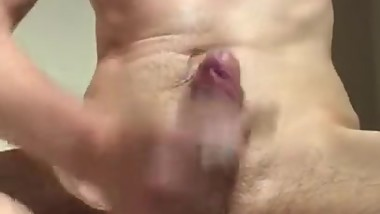 Lube on Big Dick Solo Masturbation
