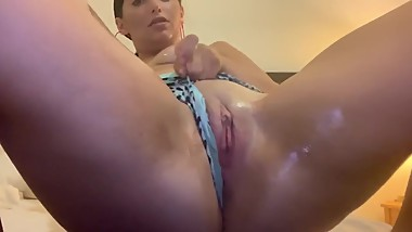 Playing with my wet little pussy in my panties