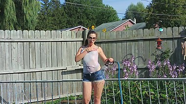 Outdoor Enema Surprise