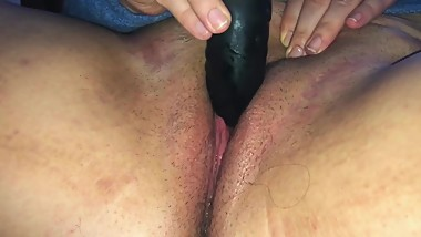 Amateur BBW Teen Masturbates and Cums Before Work