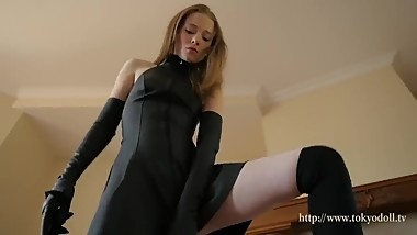 TOKYODOLL.TV BEAUTIFULL BLACK DRESS TINY TEEN