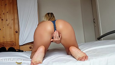 Teen Blonde punished and gets a Creampie - ChokoBanana