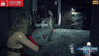Resident Evil 2Naughty Claire Vs Ghost face