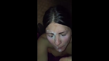 Teen Amateur First Time Facial Compilation