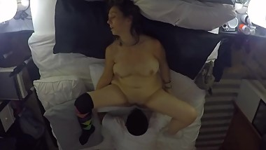 Stepmom makes son drink her leg shaking squirting orgasms