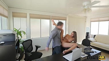 LOAN4K. Loan manager perform dirty casting for girl in