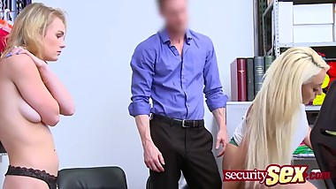 Horny shoplifter milf can not hide her addiction for big cock