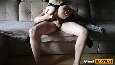 GrandHarwest. Girl with a big ass sucked me and saddled my dick