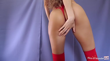Beautiful young webcam Girl with amazing Ass Masturbating with Big Orgasm