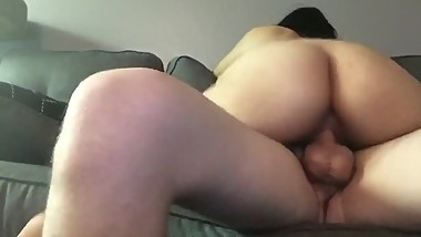 Amateur couple couch fucking