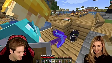 PewDiePie and Marzia are playing Minecraft together! GONE WRONG