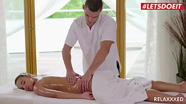 LETSDOEIT - Horny Teen Amirah Adara Gets Oiled And Fucked On Massage Table