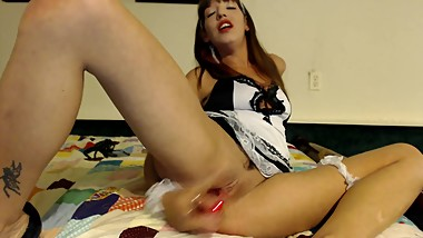 Naughty Ivy Solo masturbation squirting dildo