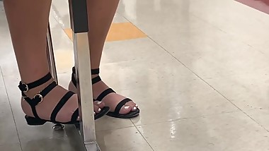 Sophomore Candid Teen Feet In Class