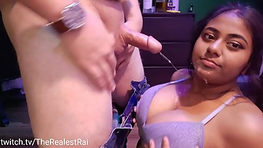 College Slut Gets Throat and Tits Fucked