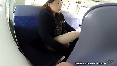 Japanese Teen Pees in Train (uncensored)