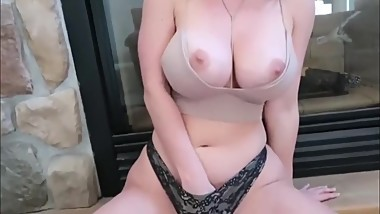 Busty and sexy sister used hard by her real stepbrother with massive dick